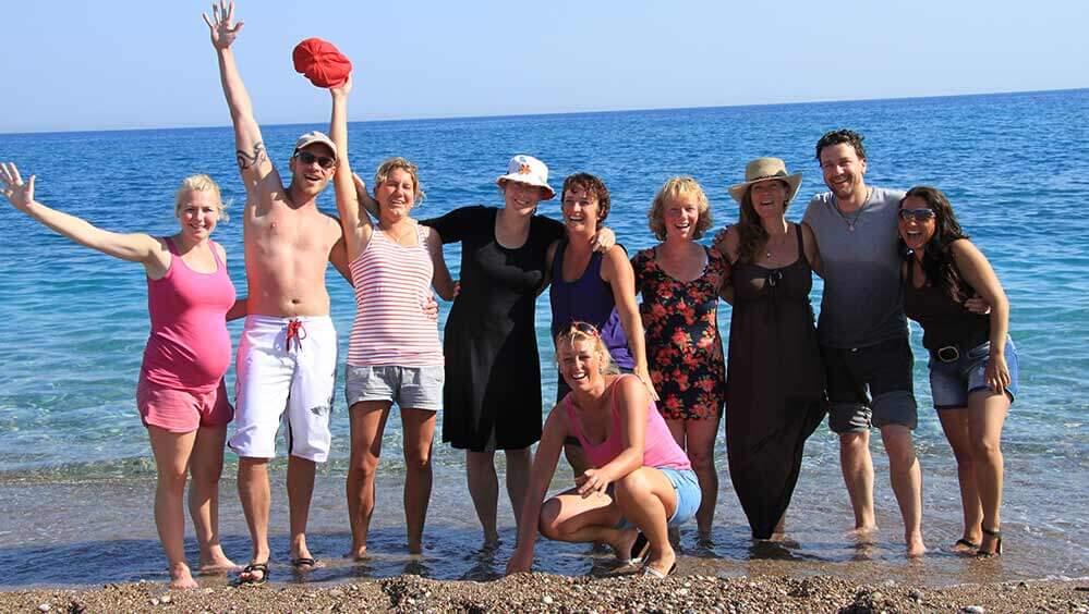 Outdoor coaching groep in Cirali