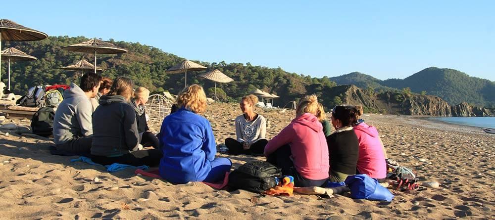 Op het strand van Cirali