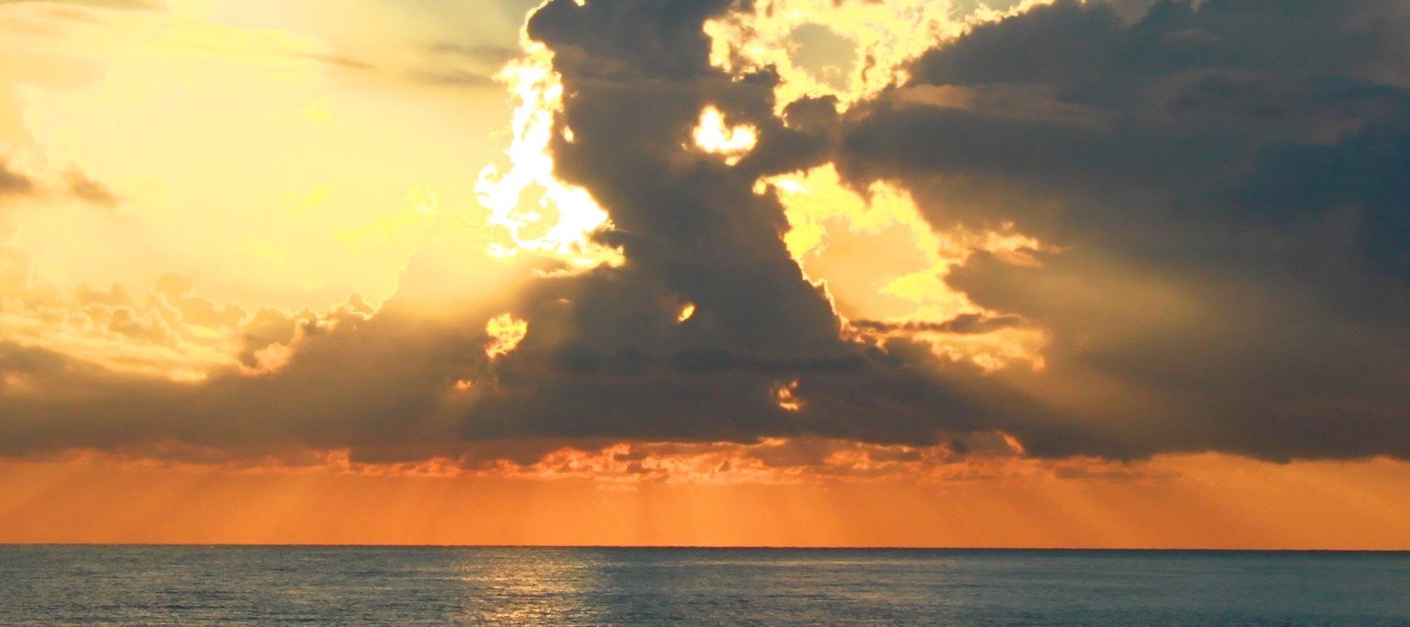 Ondergaande zon in Cirali