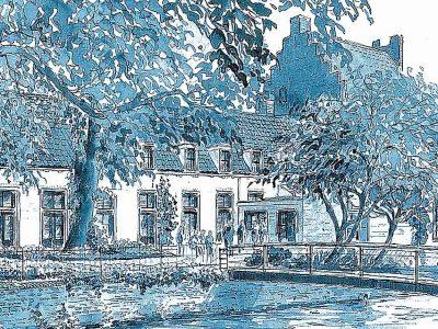 Atma in blauwe tekening